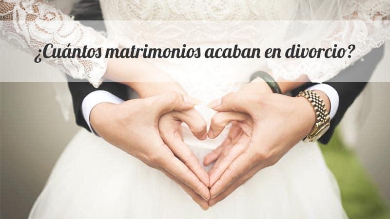 Porcentaje de divorcios en España