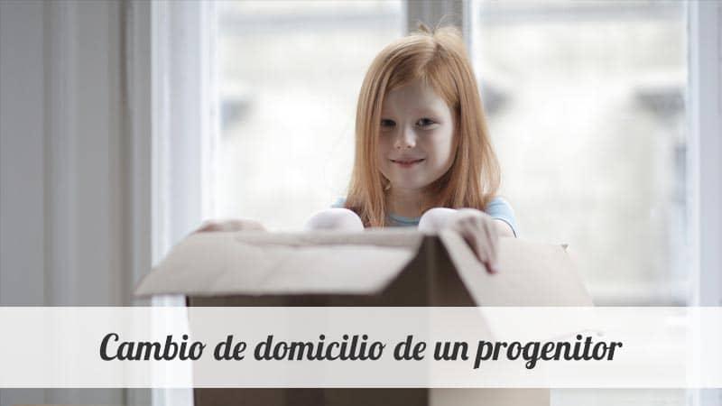 Cambio de domicilio de un progenitor